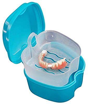 Ularma Prothèse dentaire Salle de Bain Boîte de Cas Soins Dentaires Faux Dents…