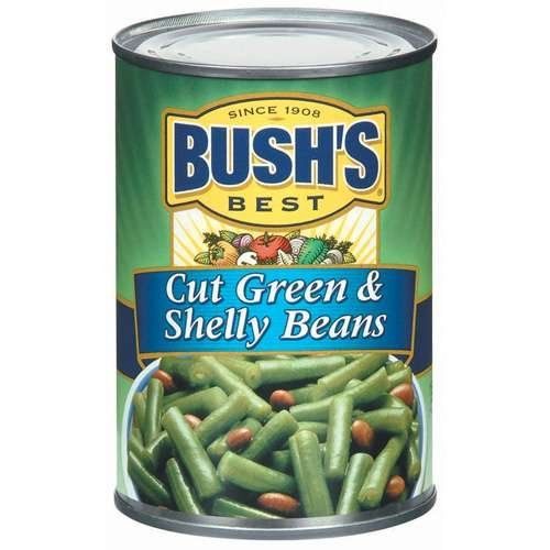 Bush's Best Green and Shelly Beans, Cut 15 oz (Pack of 12) ** Remarkable product available now. : Fresh Groceries