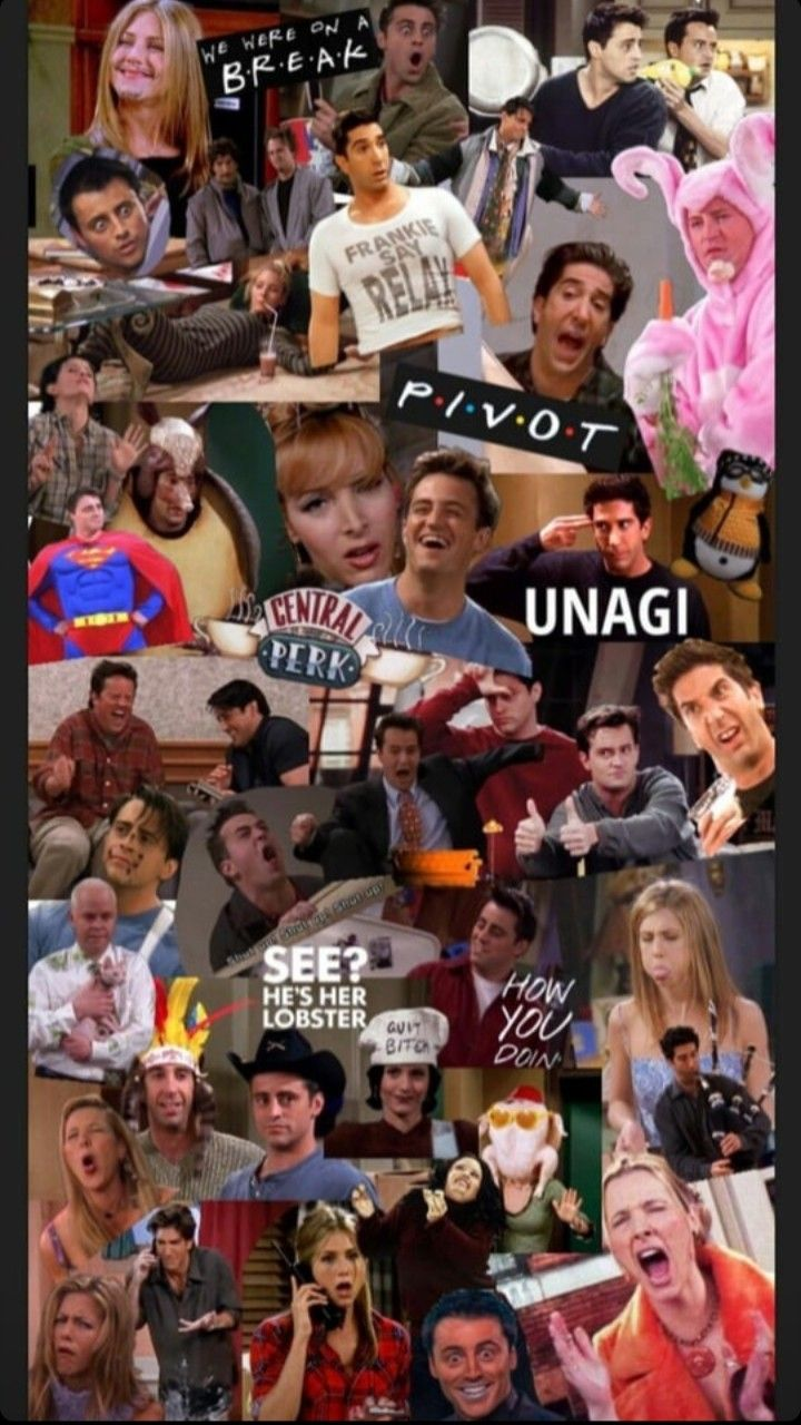 Friends Collage By Judy Trent On Classic Tv Friends Episodes