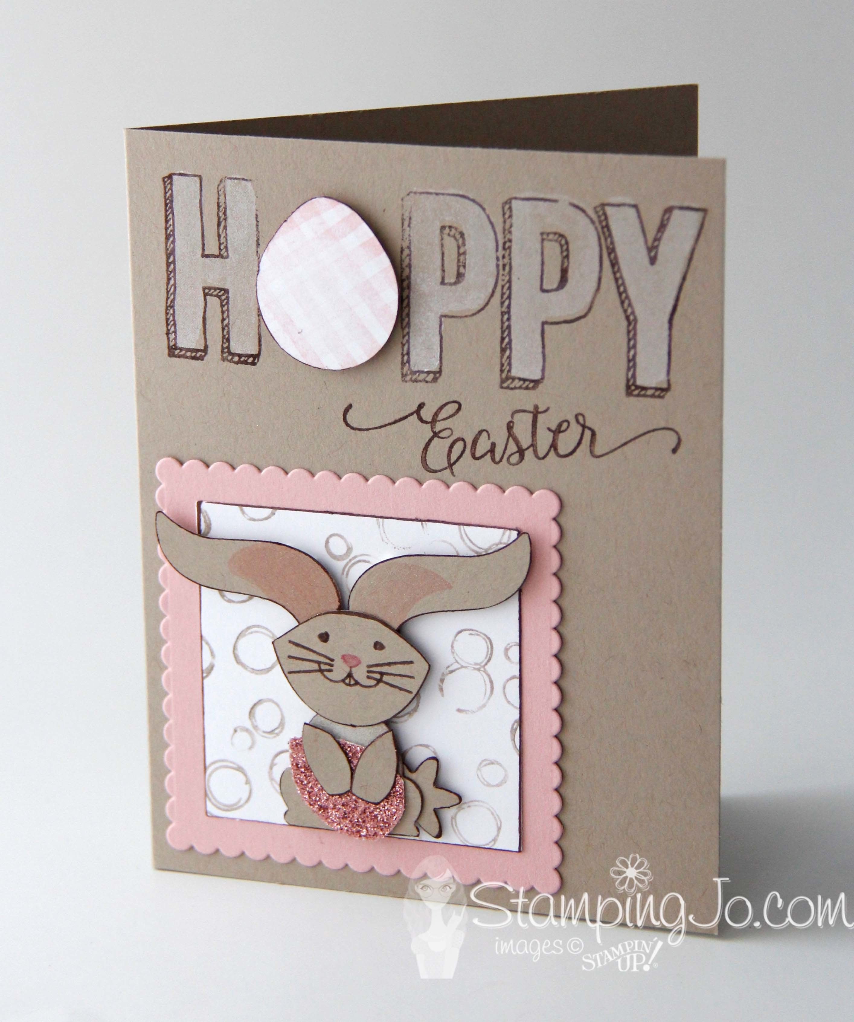 Easter bunny using Stampin' Up Foxy Friends and Foxy Builder Punch