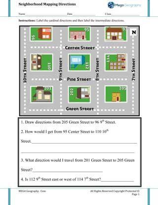 community maps for kids worksheet neighborhood mega geography geography activities maps. Black Bedroom Furniture Sets. Home Design Ideas