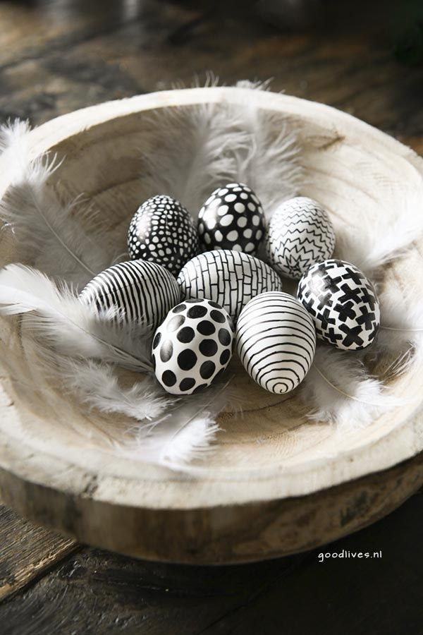 Photo of Easter: Coloring easter eggs in black and white (DIY) – Goodlives