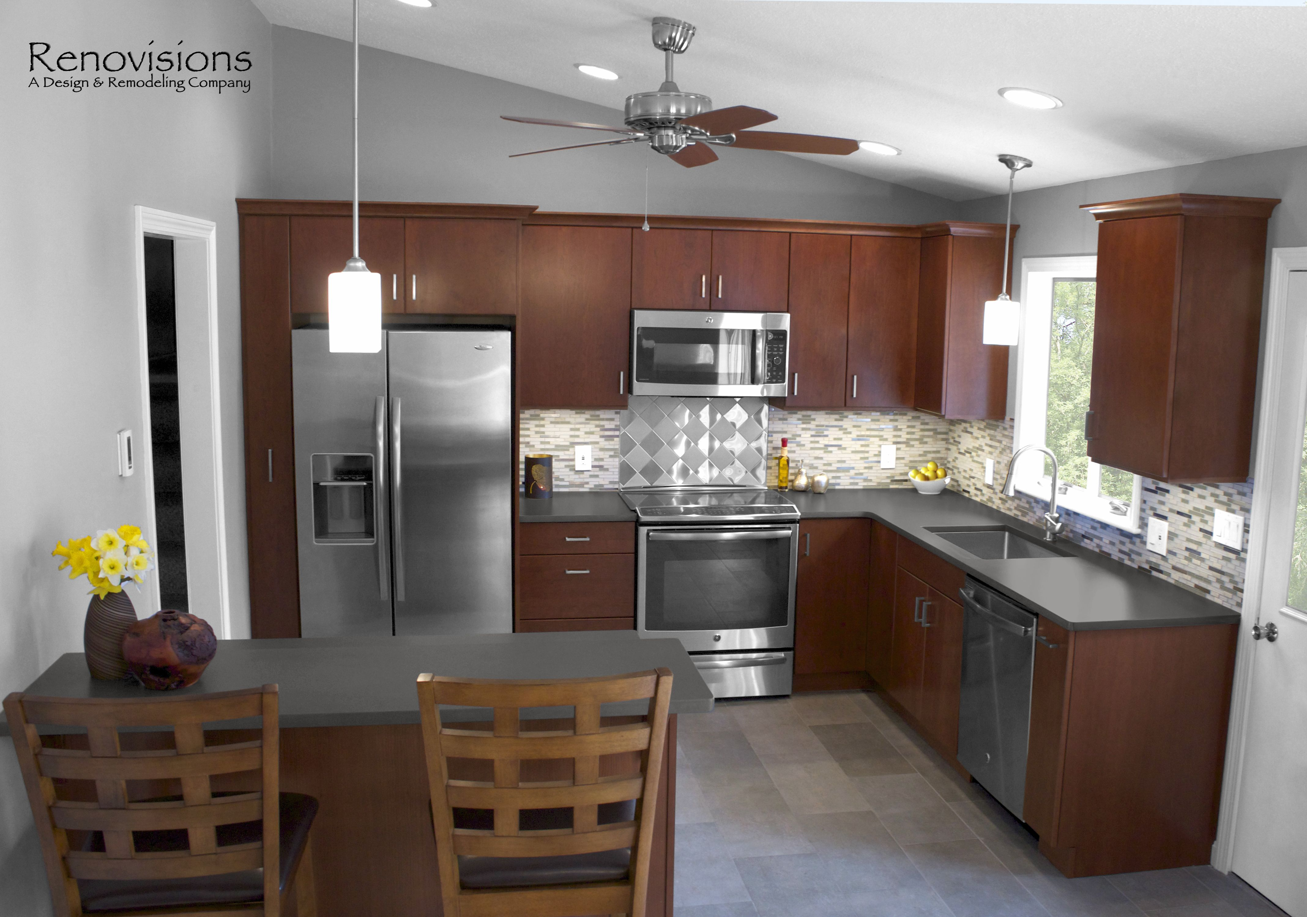 Best Contemporary Kitchen Remodel By Renovisions Stainless 400 x 300