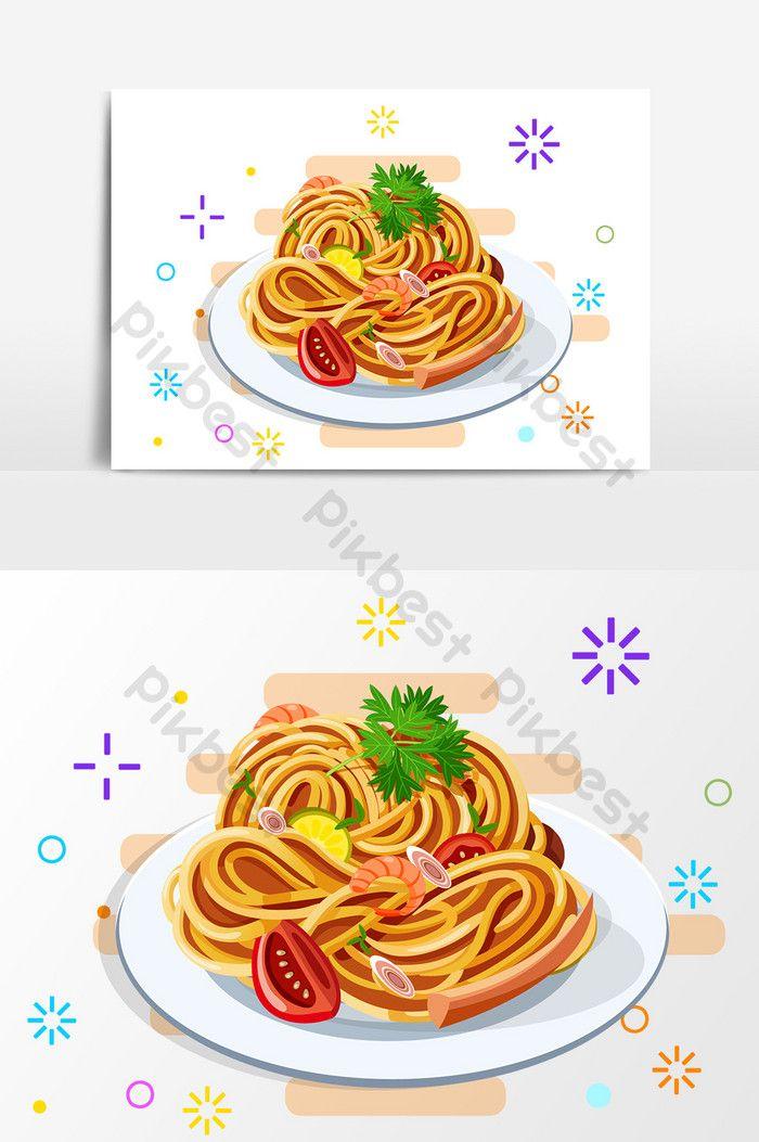 Elemen Reka Bentuk Pasta Makanan Kartun Elemen Grafik Ai Percuma Muat Turun Pikbest Food Pasta Recipes Design Elements