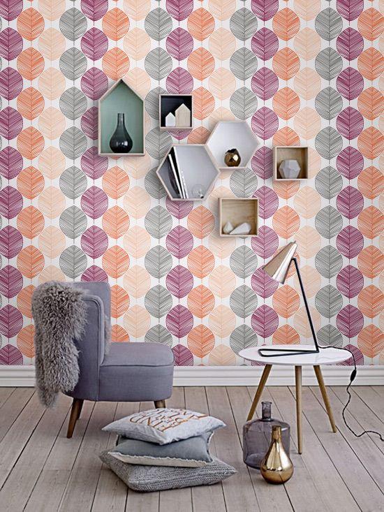 Scorza Di Fiori Botanici E Sfondi Bastone Murale Di Sfondo Etsy Vinyl Wallpaper Temporary Wallpaper Wall Patterns