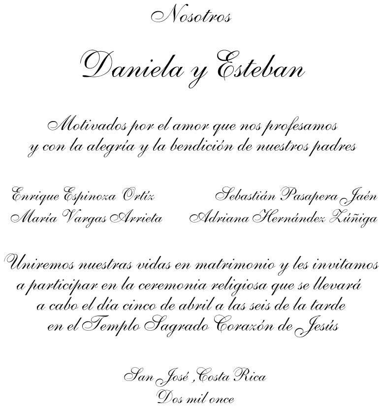 Ejemplos De Invitaciones Para Boda Maggi Locustdesign Co