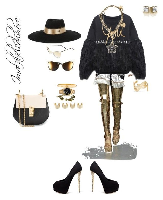 C H I C by imalabeledwhore on Polyvore featuring polyvore, fashion, style, Giuseppe Zanotti, Chloé, Lanvin, Yves Saint Laurent, Maison Margiela, Rolex, Cartier, Maison Michel and Tom Ford
