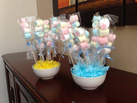 Centros de mesa con dulces para baby shower babies for Mesa dulce para baby shower