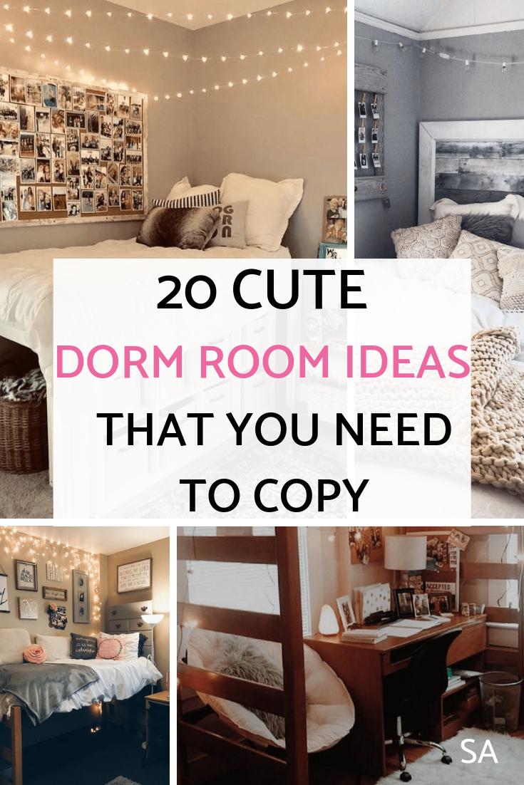 20 Pinterest Worthy Dorm Room Ideas Cheap Dorm Decor Cool Dorm