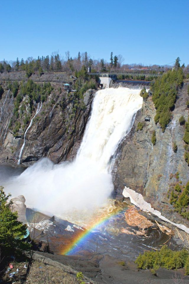 One of the best ways to experience a destination is on two wheels. Québec City is no exception. Not only are there miles of bike trails, you can visit its natural wonders like Montmorency Falls without having to pay for parking! Click pin to learn more about cycling Québec and where to rent the best bikes in Québec City. #QuebecCity #Biking #Cycling #Quebec #BikeTour