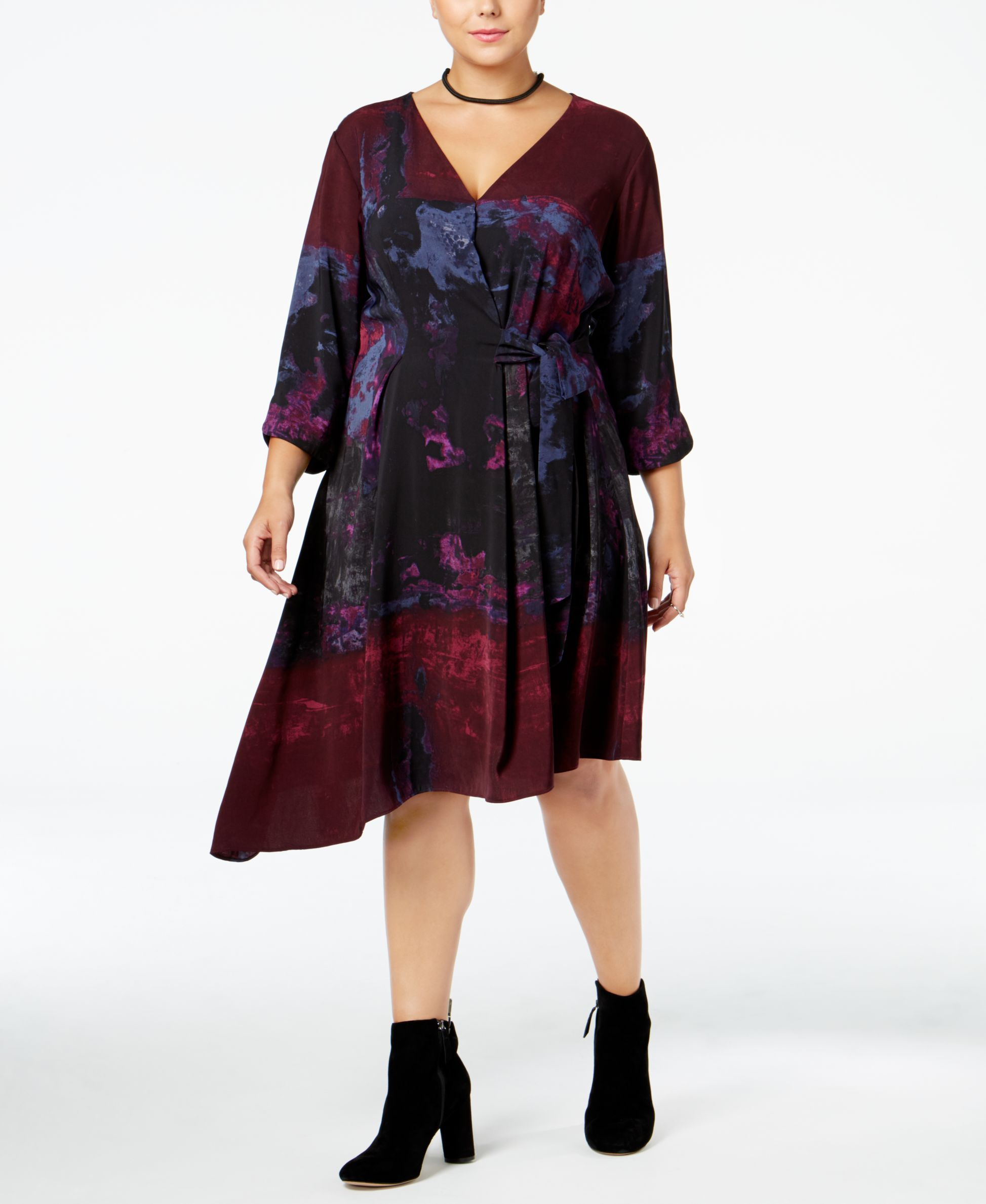 6876b1ead5f Rachel Rachel Roy Curvy Trendy Plus Size Asymmetrical Dress