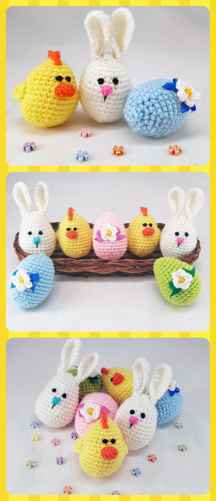 Easter stuffers Easter eggs Crochet eggs Easter gifts Bunny eggs ...