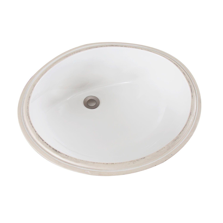 Mancesa Oval Undermount Bathroom Sink Sgnature Hardware Sink