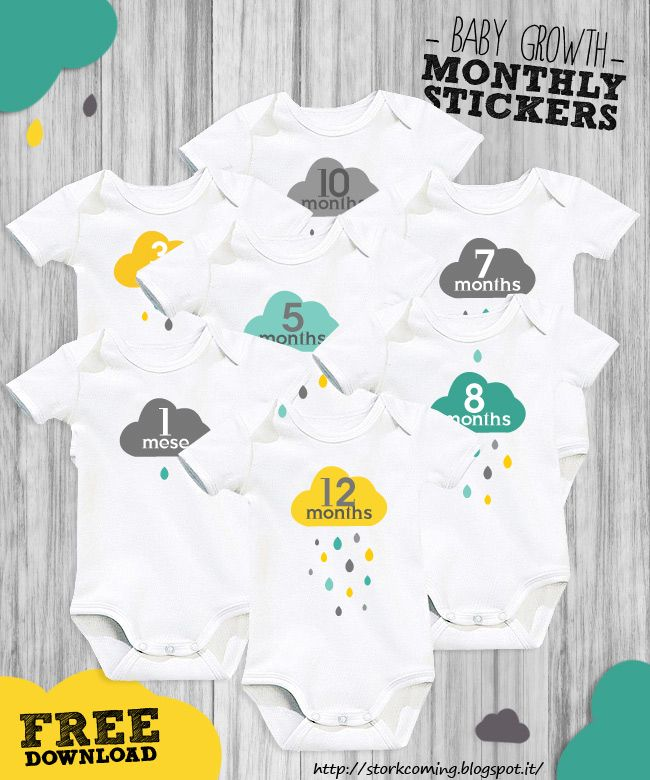 0e49a97dc7f1 free onesie baby month growth stickers www.StorkIsComing.com