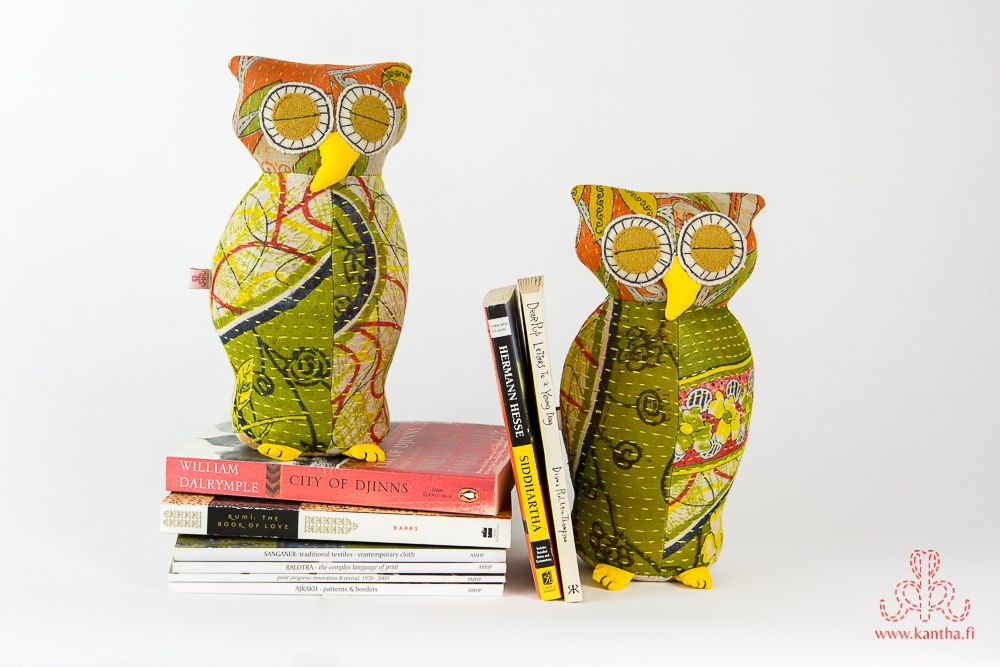 More owls, more books! www.kantha.fi/product/owl_bookends