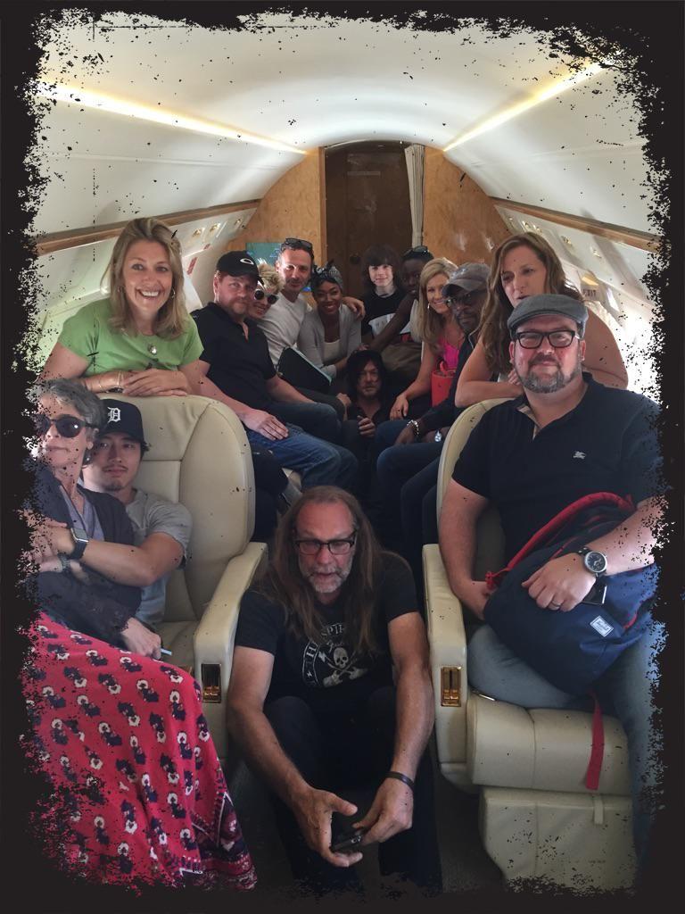 ......... @WalkingDead_AMC #TheWalkingDeadSDCC #TWDfamily en route !!!!! #Grateful.7/9/ 2015