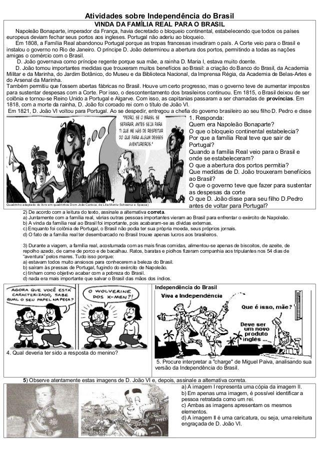 Atividades Independencia Do Brasil Atividades Independencia Do