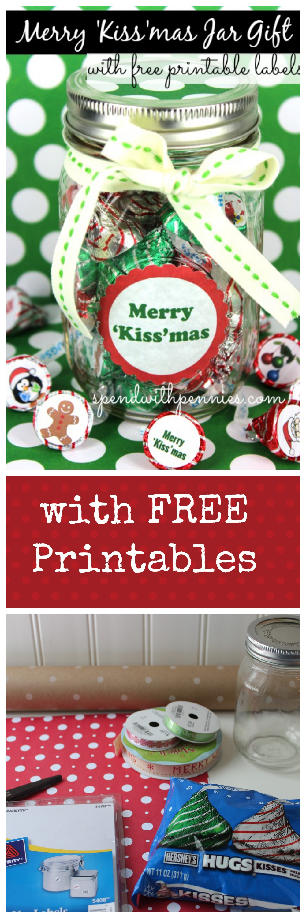 Merry ukissumas jar gift cute for teachers gifts free printable