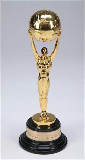 World Music Award World Music Awards Music Trophies Awards Trophy