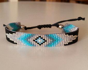 Loom Beaded Bracelet Beau Pinterest Bracelet Perle