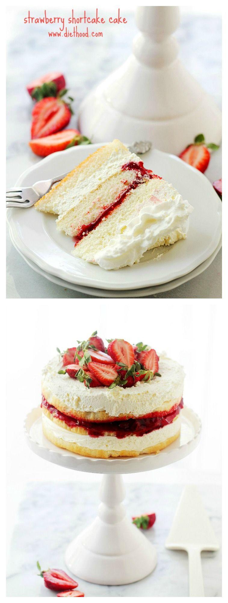 스트로베리 쇼트케이크 케이크