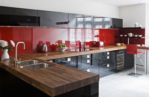 dark cabinets red backsplash 57 bright and colorful kitchen design
