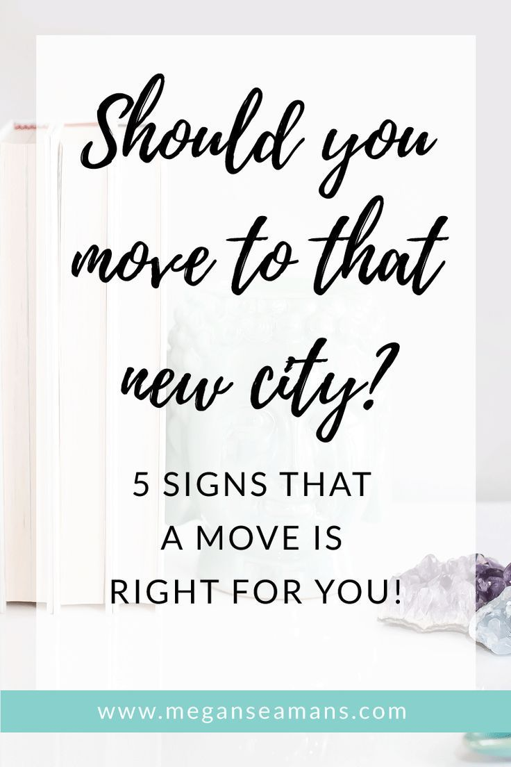 Thinking of moving? Moving to a new city or country can be