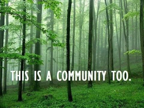 .This is a community too