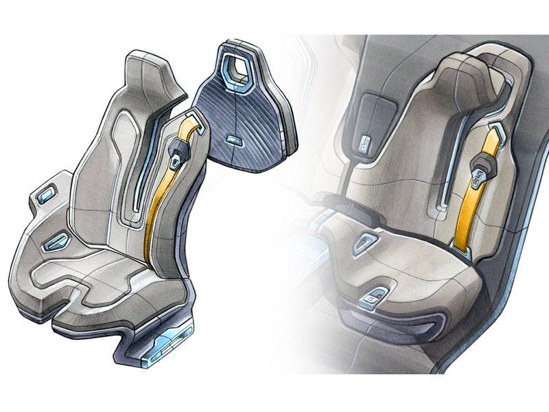 cool car seat design sketch by Raphael le Masson (via simkom.com ...