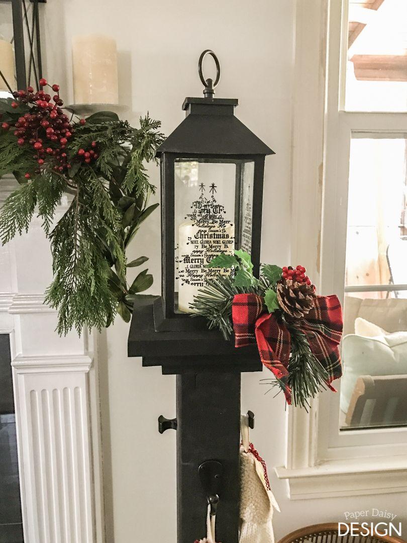 Holiday Stocking Post Diy Stocking Holder Christmas Lamp Post