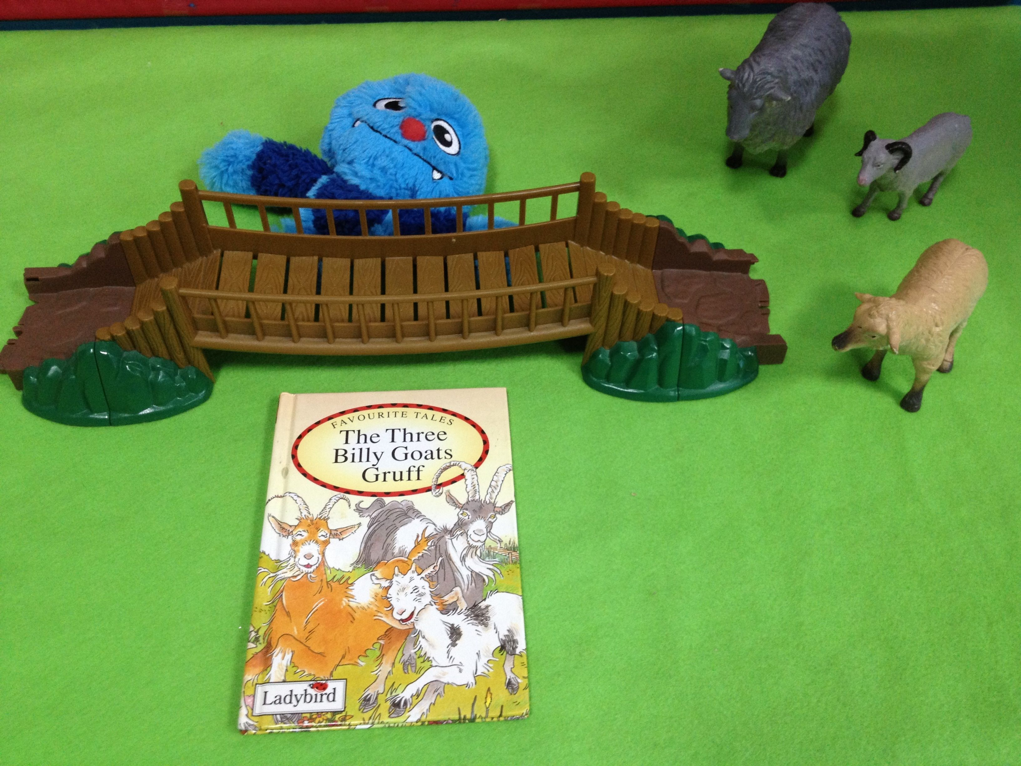 Three Billy Goats Gruff Role Play Story Props