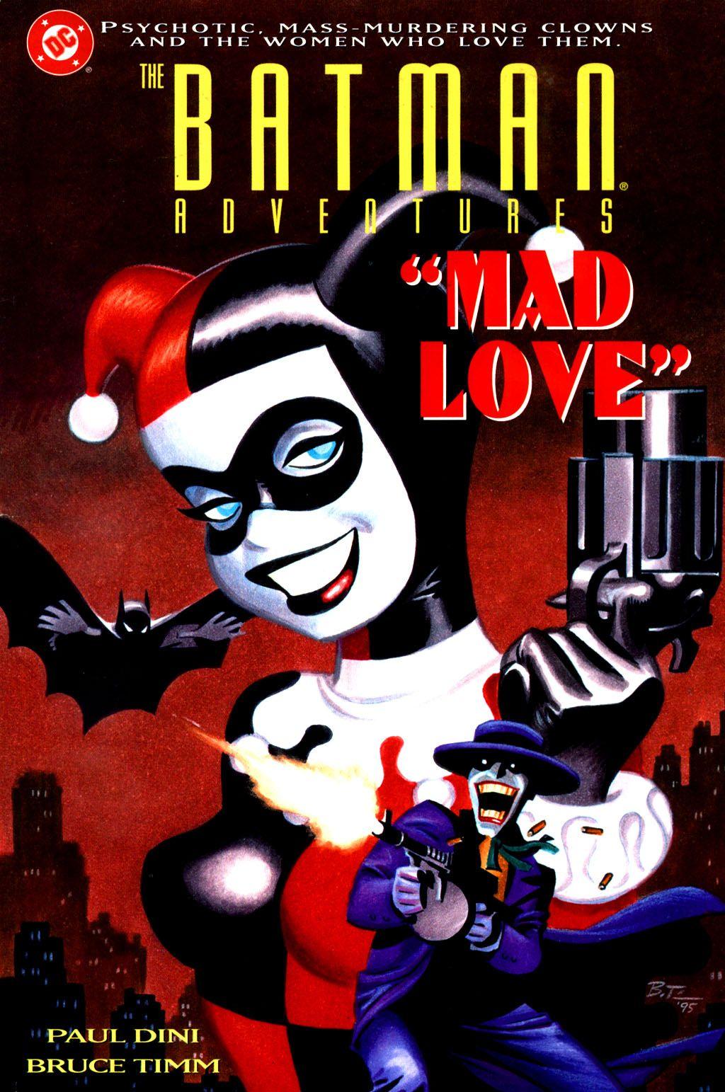 Resultado de imagen de harley quinn comic cover mad love