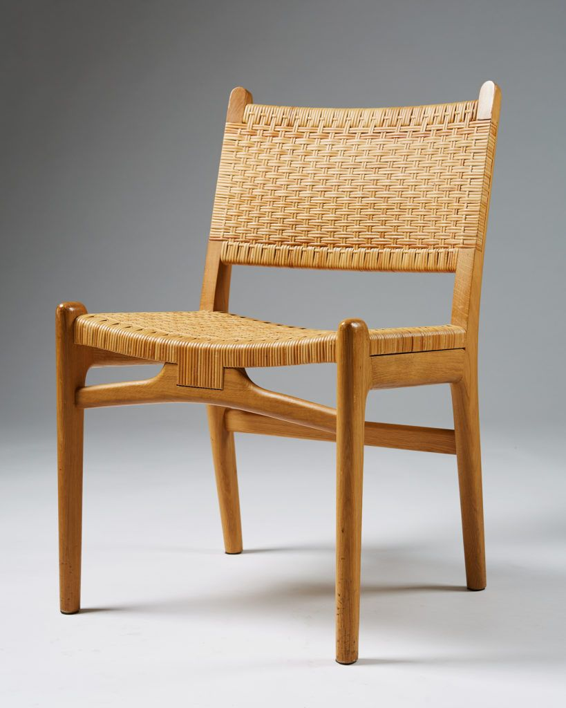 Oak And Cane Sold As A Set Of Four H 81 Cm 32 W 52 Cm 20 1