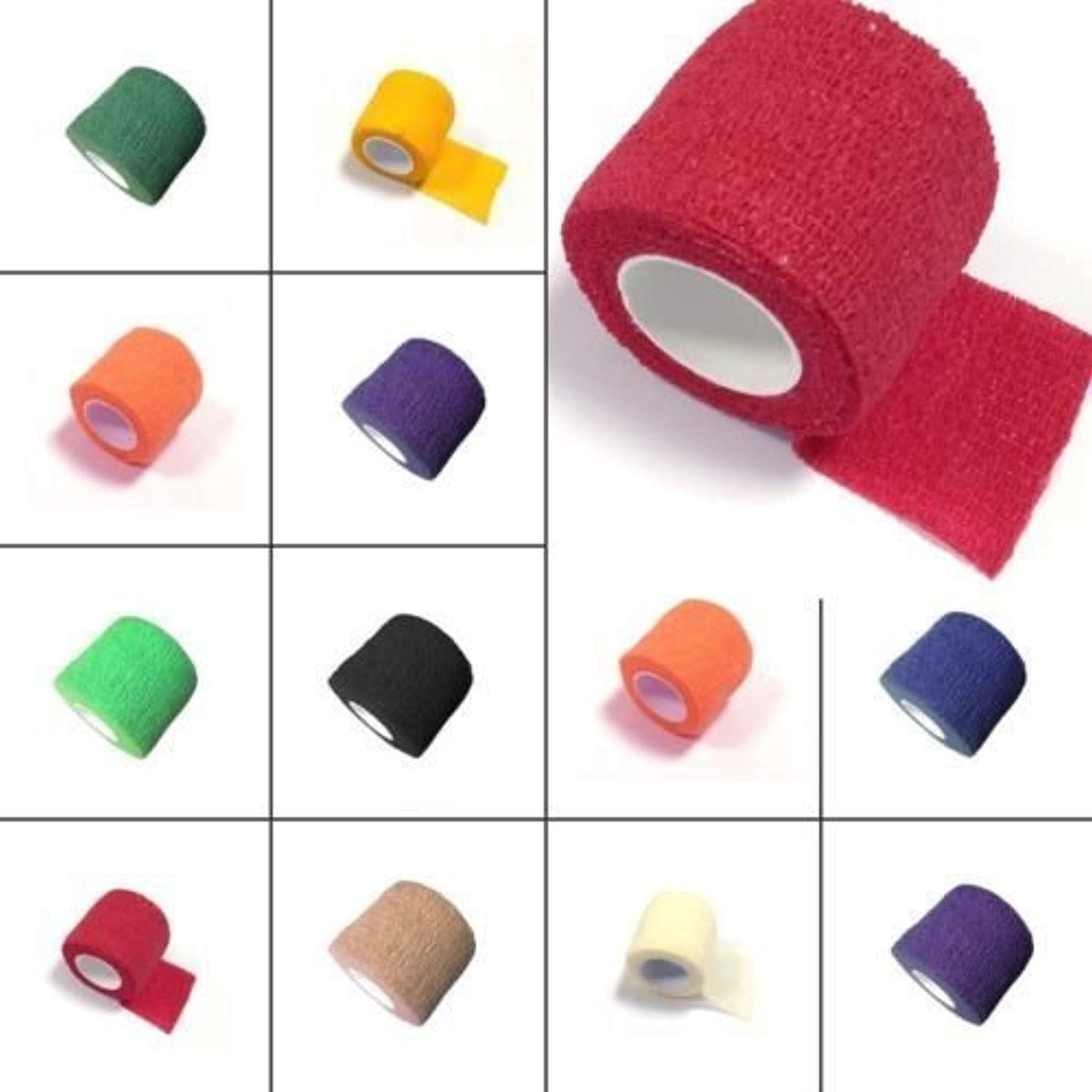 Pet Horse Dog Cat Vet Wound Elastic Cohesive Bandage Self