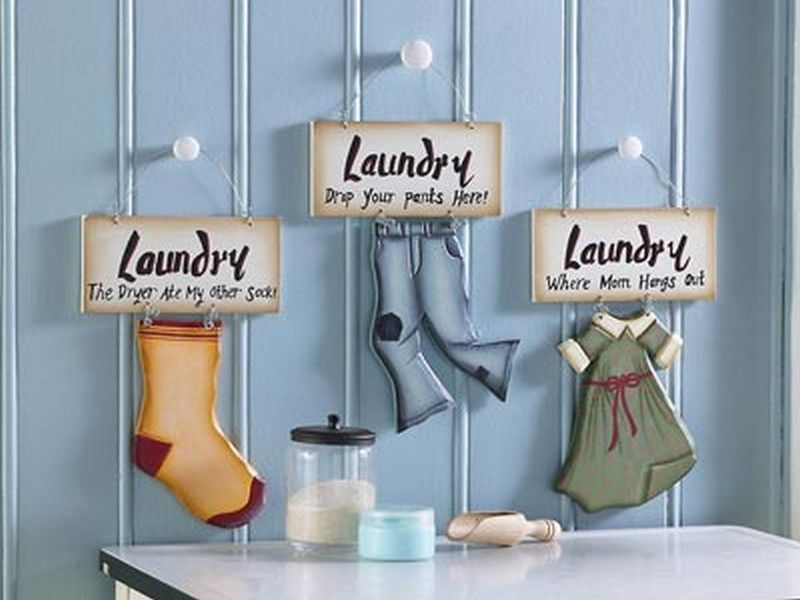 Hanging Laundry Room Signs Wall Decor Ideas Laundry Room Wall