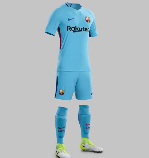 Barça. segunda equipación Nike para la temporada 2017-2018 db4ff1982dc