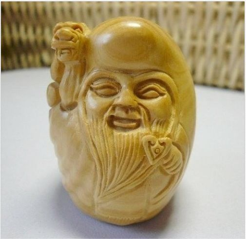 Chinese Old Boxwood Handwork Carving Sh N Xi N Netsuke Netsuke Carving Chinese