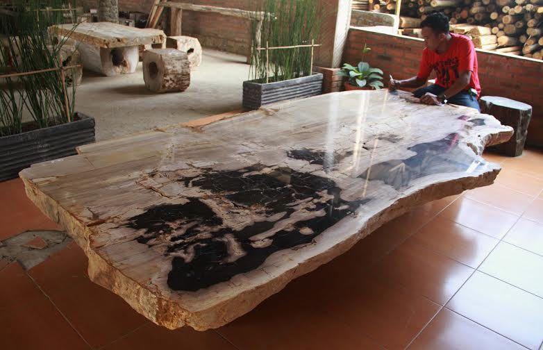 Petrified Wood Indonesia Petrified Wood Table Petrified Wood Natural Wood Furniture