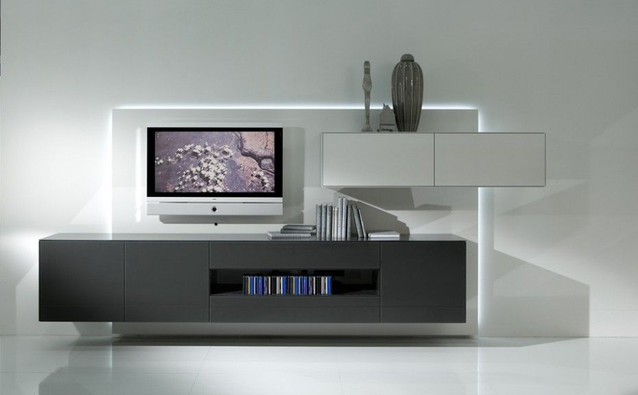 Uberlegen Best Minimalist Tv Wall Unit Of Kettnaker: Minimalist Living Room Design  Decorating With Modern Tv Wall Cabinet Storage Systems.