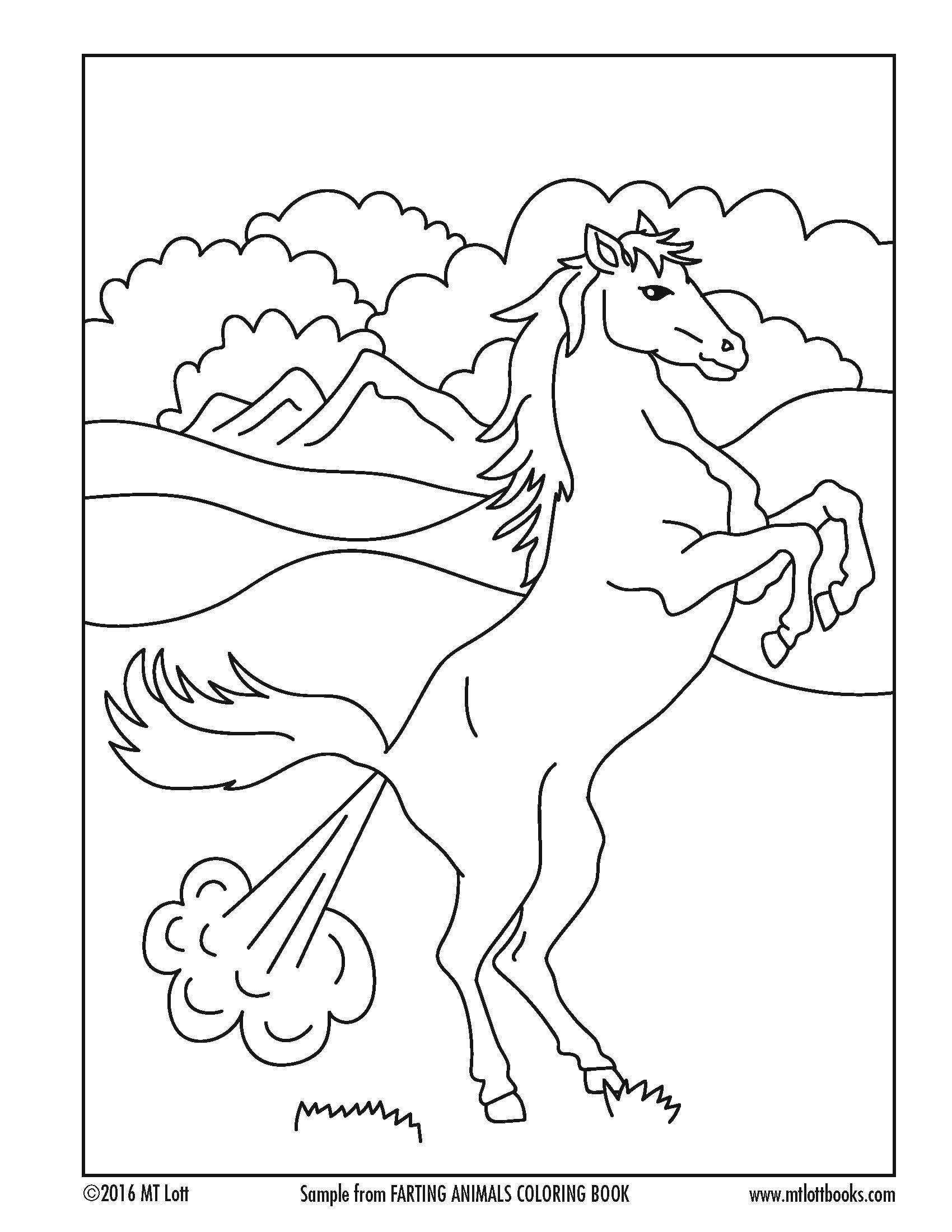 Free Coloring Page From M T Lott S Farting Animals Coloring Book Mermaid Coloring Book Cat Coloring Book Free Coloring Pages