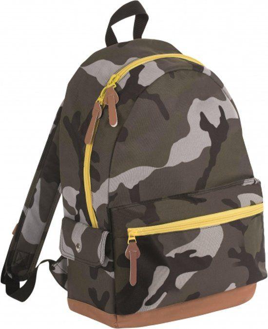 2fc3572f129 Bellatio Junior Camouflage Rugzak - Kinderen - Groen || Bellatio ||  Camouflage rugzak 16