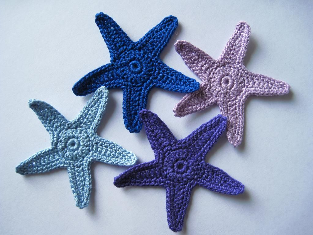 4) Name: \'Crocheting : Sea Star Applique Crochet Pattern | Crochet ...