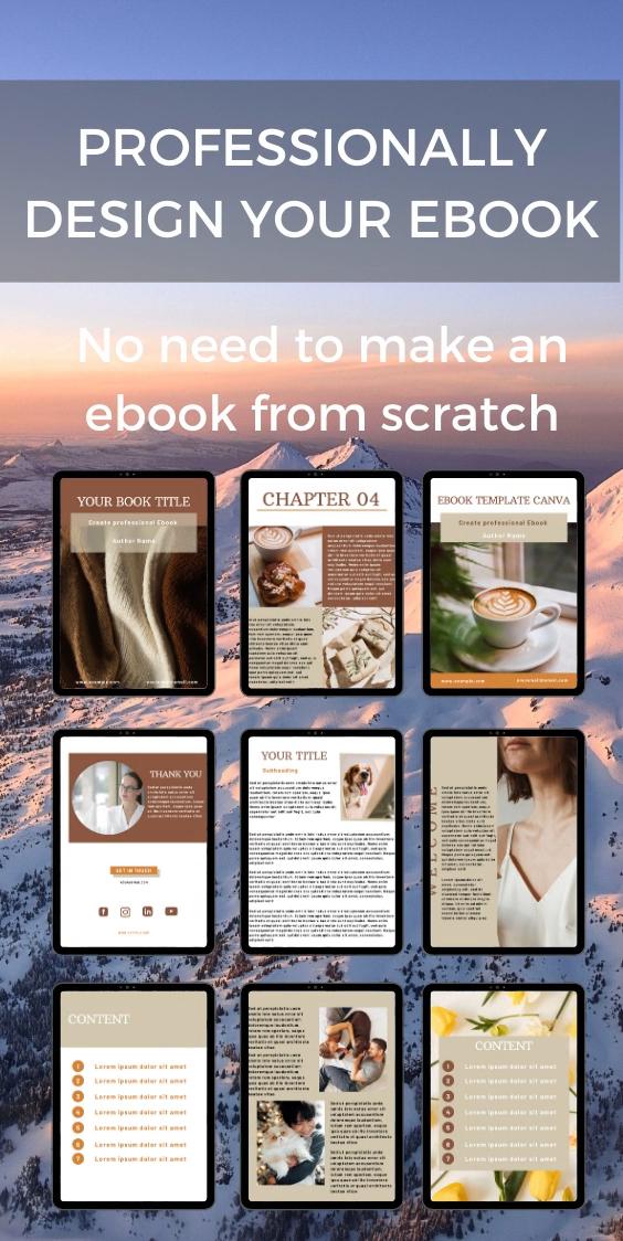 Canva ebook template, editable workbook template.
