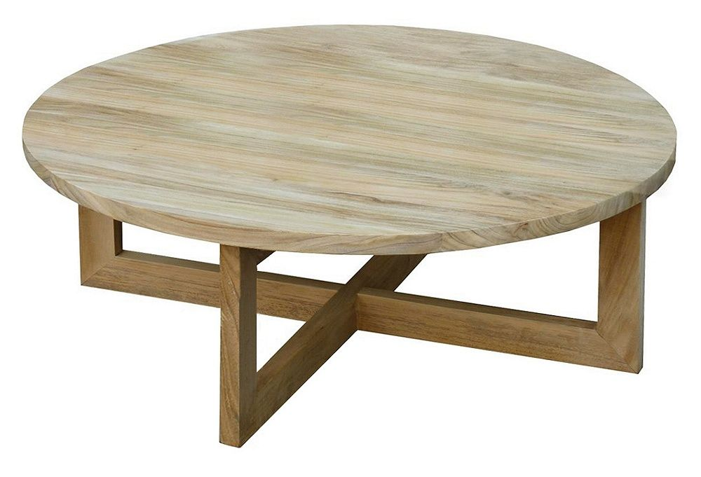 Plateau 36 Round Coffee Table Teak The Modern Cabin One