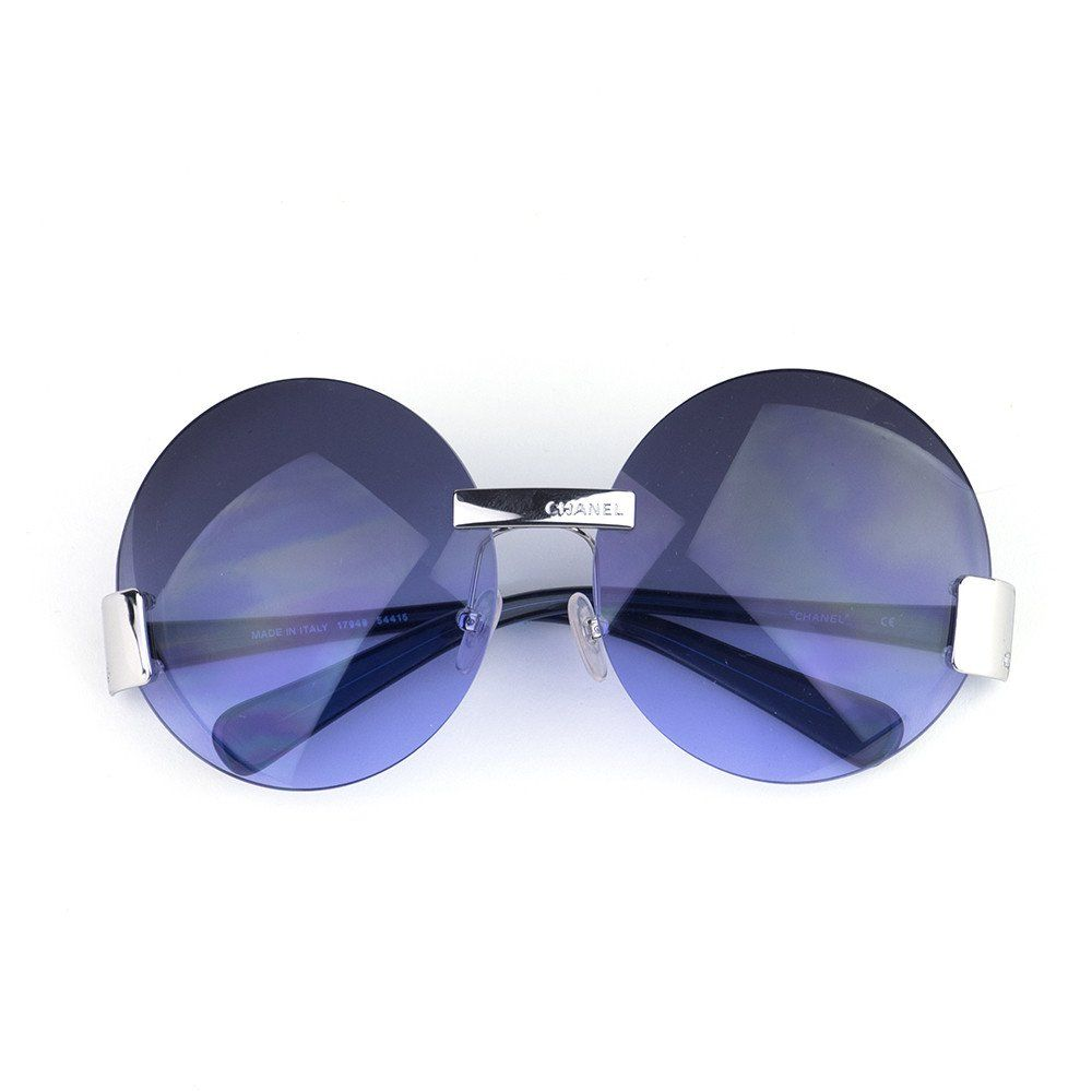 77977fef9d Vintage CHANEL 90s Rimless Blue Lens Sunglasses SOLD – THE WAY WE WORE