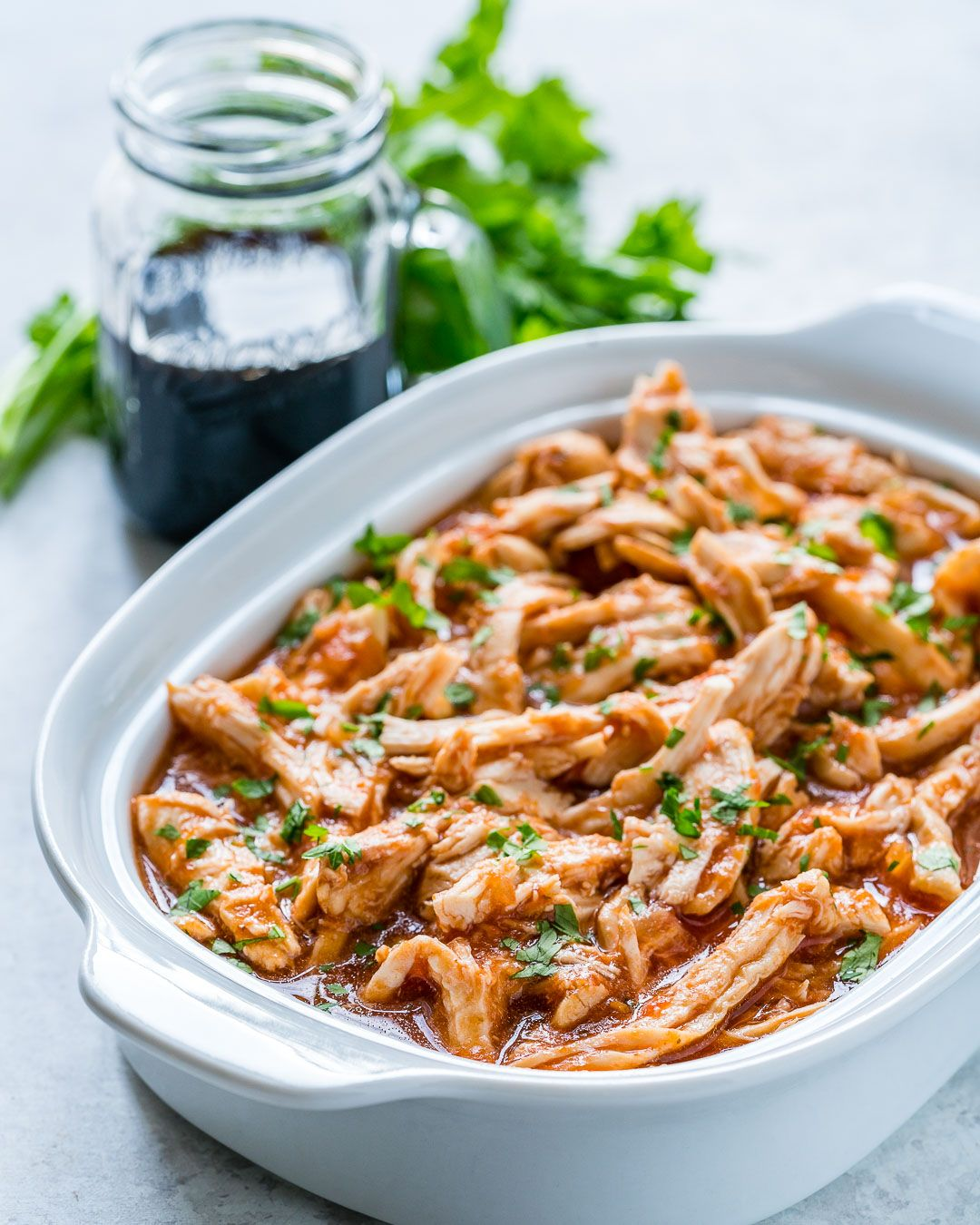 Crock Pot 3-Ingredient Pulled Chicken