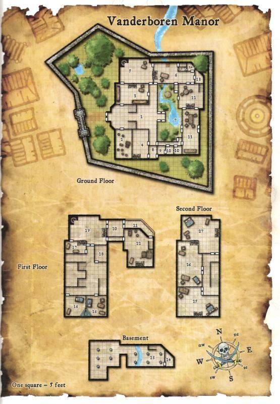 Vanderboren manor | Maps for Gaming | Pinterest | Manor ...