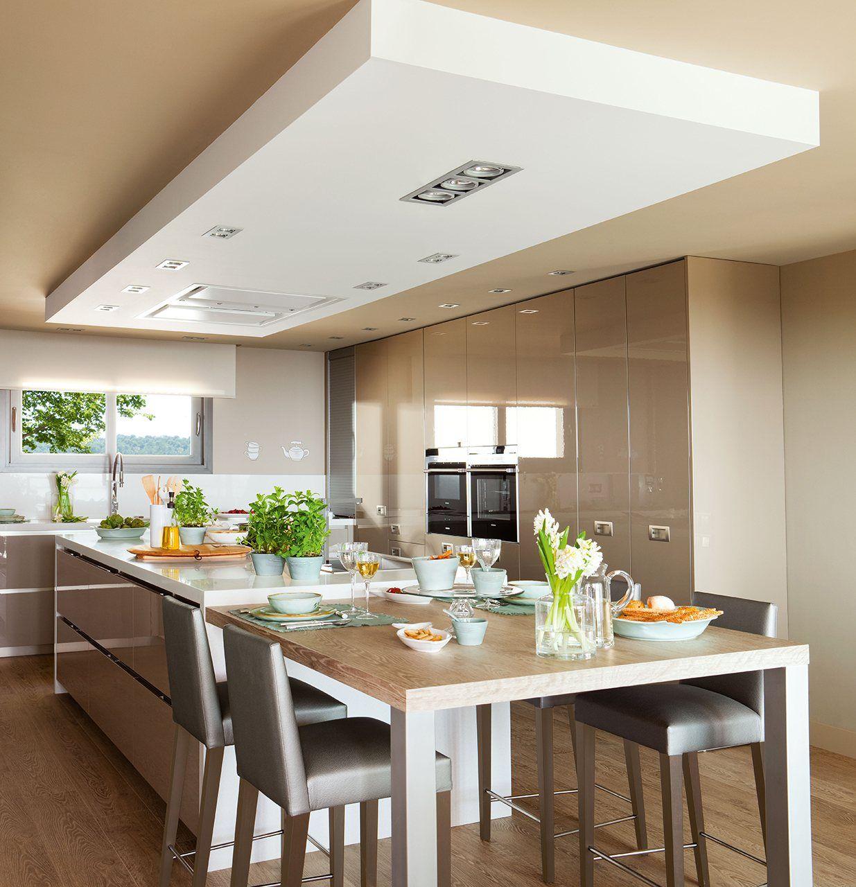 Claves para elegir la campana de tu cocina home pinterest ceiling kitchens and kitchen design - Campana de la cocina ...