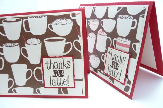 Kwan Crafts Coffee Tea thanks a latte Clear Stamps for Card Making Decoration and DIY Scrapbooking