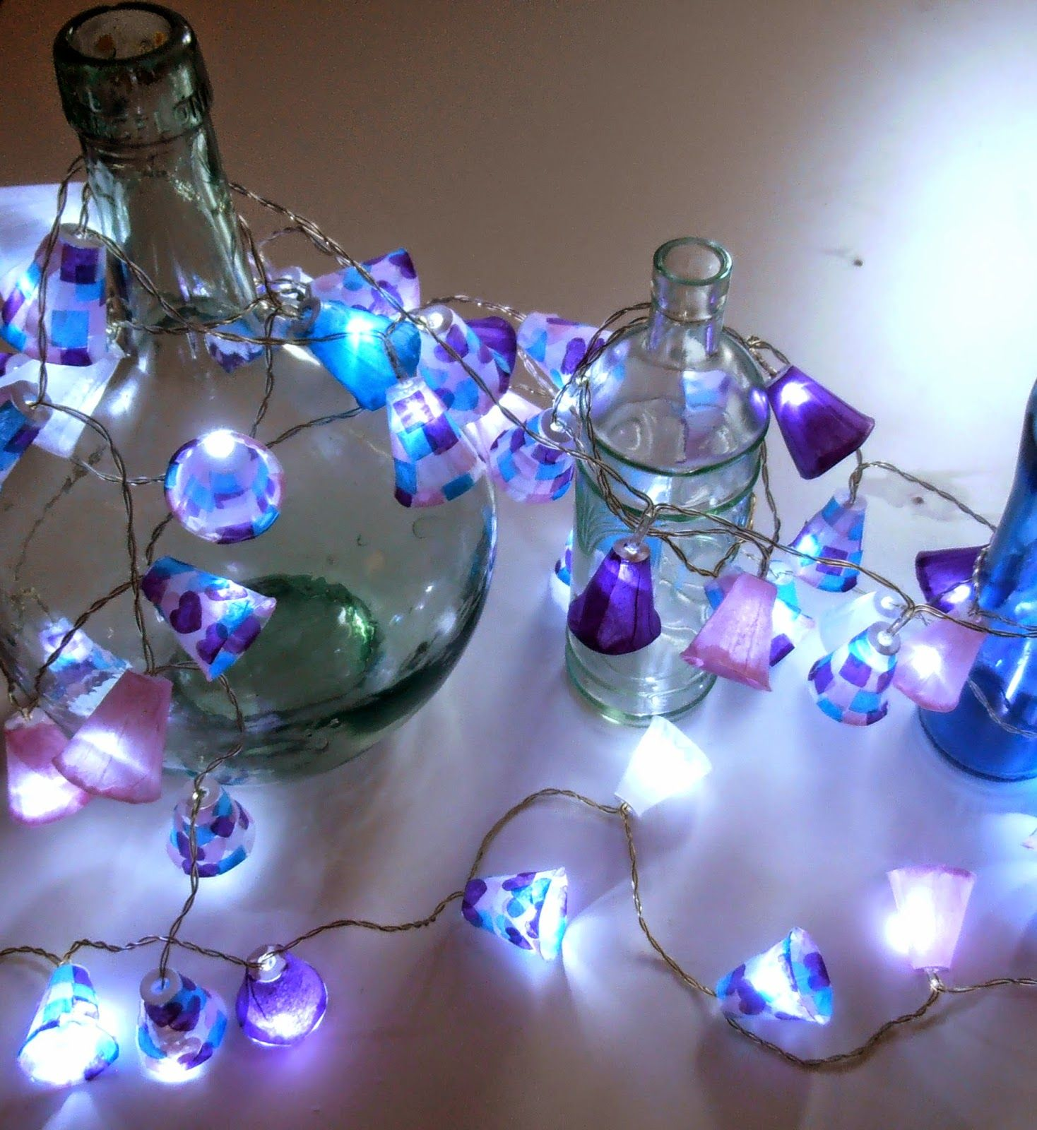 decoracin low cost guirnalda de luces artesanal y reciclando - Guirnaldas De Luces